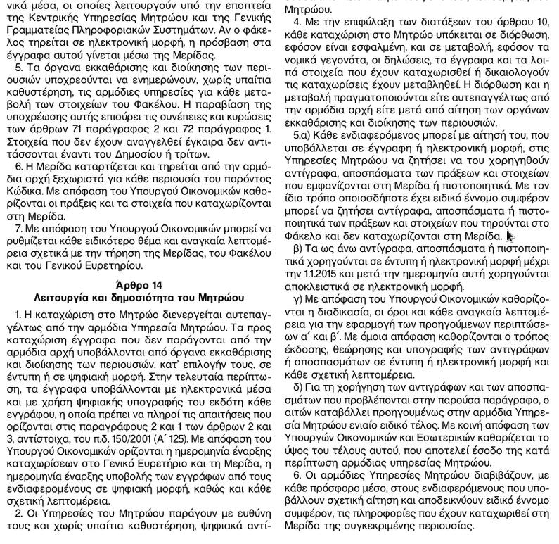 ΦΕΚ 185Α ΚΛΗΡΟΔΟΤΗΜΑΤΑ 4