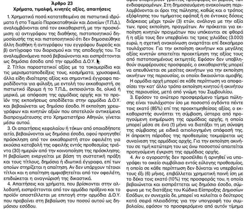 ΦΕΚ 185Α ΚΛΗΡΟΔΟΤΗΜΑΤΑ 6