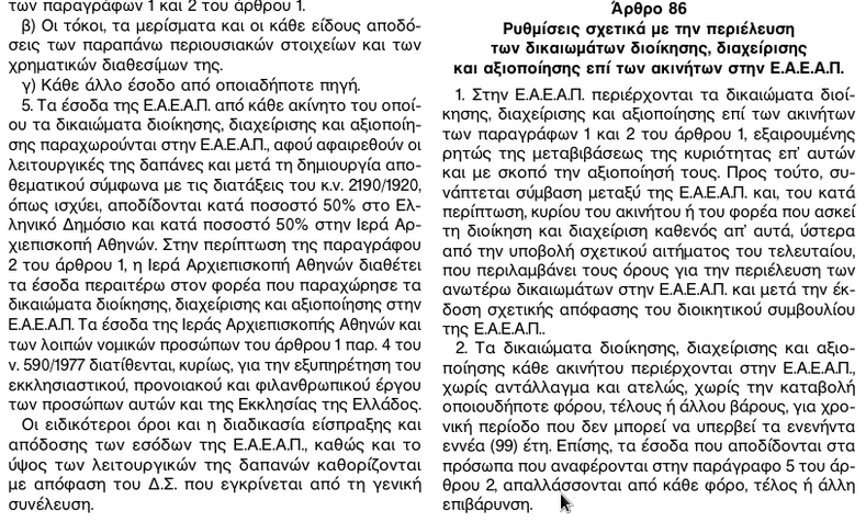 ΦΕΚ 185Α ΚΛΗΡΟΔΟΤΗΜΑΤΑ 9β