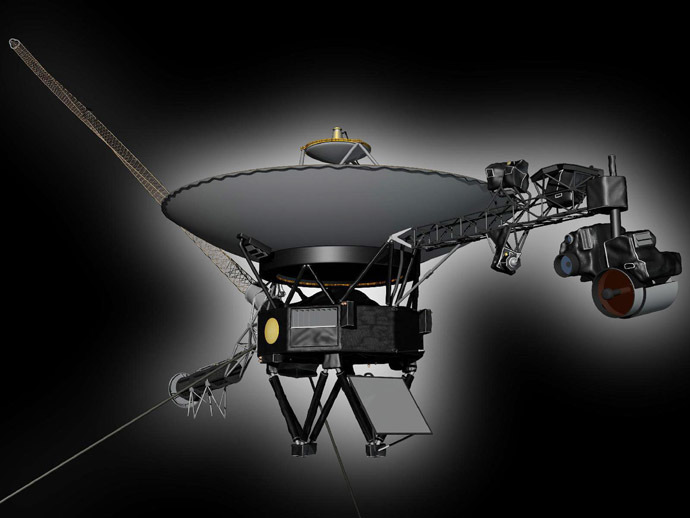 Undated artist's concept depicting NASA's Voyager 1 spacecraft