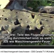 MH17 was fired on with machine gun - CBS TV Canada # ll Ukraine