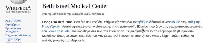ΙΣΤΟΡΙΚΟ ΜΠΕΘ ΙΣΡΑΕΛ 1