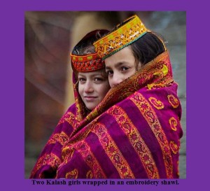 Kalash-Photos-Images-Two-Kalash-girls-wrapped-in-an-embroidery-shawl-Kalash-Valleys-Pictures-Chitral1