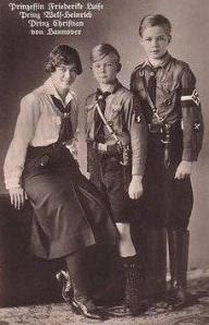 φρειδερικη με τα αδελφια της ναζι