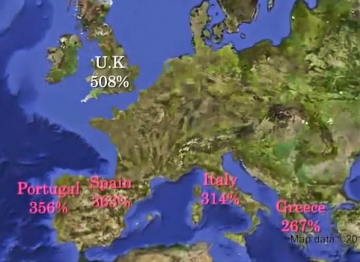 map of debts
