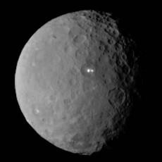 Μάτια στον ουρανό: Μυστηριώδη φωτεινά σημεία στον νάνο πλανήτη Δήμητρα (Ceres) μοιάζουν με λαμπερά μάτια!