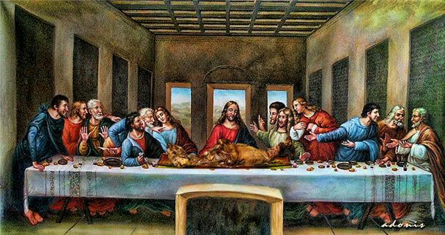 Πολλοί δεν γνωρίζουν ότι ο Ιησούς και οι μαθητές του ξεκοκκάλισαν πρώτα τον αμνό του Ιουδαϊκού Πάσχα και μετά χρησιμοποίησε ο Ιησούς τον άζυμο άρτο και το κρασί για να ορίσει τη νέα μορφή του δικού του Πάσχα!