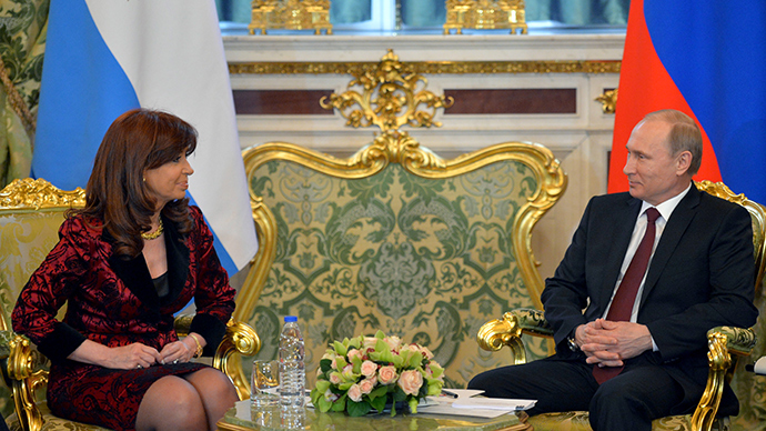 April 23, 2015. Russian President Vladimir Putin and President of Argentina Cristina Fernandez de Kirchner during a meeting in the Kremlin (RIA Novosti / Alexey Druzhinin)