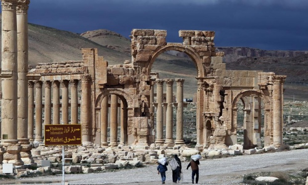 The well-preserved city of Palmyra remains one of the most important cultural centres in the ancient world, known for its unique blend of Graeco-Roman and Persian influences. Photograph: Joseph Eid/AFP/Getty Images