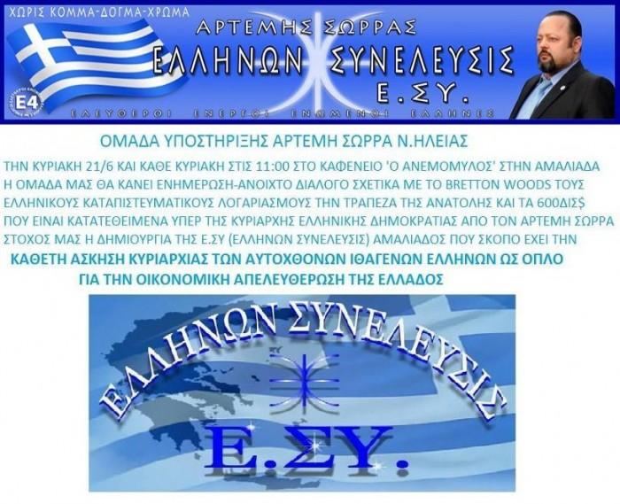 ΟΜΑΔΑ Ν ΗΛΕΙΑΣ ΕΚΔΗΛΩΣΗ ΑΜΑΛΙΑΔΑ1