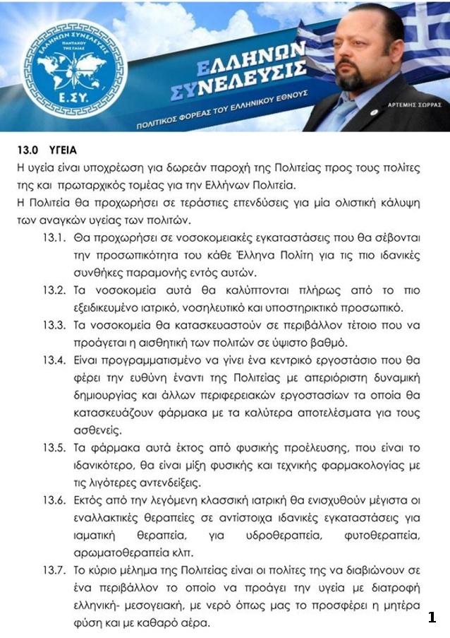 ΠΟΛΙΤΙΚΟΣ ΦΟΡΕΑΣ ΠΡΟΓΡΑΜΜΑ ΥΓΕΙΑ 1