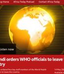 ΑΦΡΙΚΗ. Burundi orders WHO officials to leave the country. Το Μπουρούντι διατάζει τους υπαλλήλους του Π.Ο.Υ. να εγκαταλείψουν τη χώρα