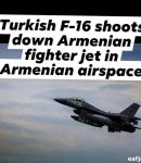BREAKING. TURKISH F-16 SHOOTS DOWN ARMENIAN FIGHTER JET IN ARMENIAN AIRSPACE !!