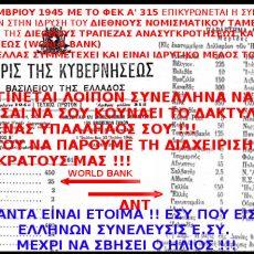 ΤΟ ΜΥΣΤΙΚΟ ΤΩΝ ΜΥΣΤΙΚΩΝ ΠΟΥ ΑΠΟΚΑΛΥΨΕ Ο ΑΡΤΕΜΗΣ ΣΩΡΡΑΣ !!! ΣΑΝ ΣΗΜΕΡΑ ΠΡΙΝ 75 ΧΡΟΝΙΑ ΤΗΝ 27-12-1945 ΕΠΙΚΥΡΩΝΕΤΑΙ ΤΟ BRETTON WOODS. Η ΕΛΛΑΣ ΙΔΡΥΤΙΚΟ ΜΕΛΟΣ ΣΤΟ ΔΝΤ ΚΑΙ ΣΤΗΝ WORLD BANK